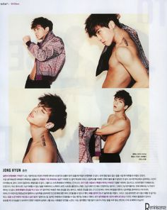 I know I've already pinned two of these four pics but my god, Jonghyun looks sooo good in all of these, I just had to pin this ♥