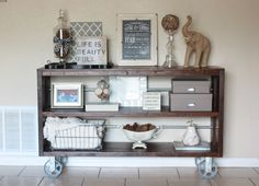 DIY Knockoff Restoration Hardware Wood Steel Console TableBuild It Craft It Love It