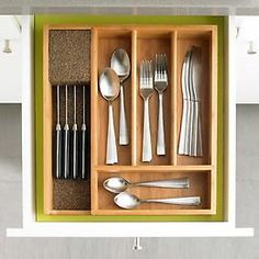 KnifeDock.com > Bamboo Cutlery Tray with Knife Dock™
