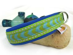 """Halsband mit Neopren """"Flecha blau"""" - Halsband, Geschirr, Leine selbst gestalten - peppetto.de"""