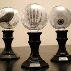 Spooky Crystal Ball Candlesticks | Dollar Tree