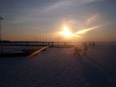 Sonnenuntergang bei Eis
