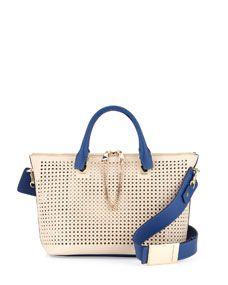 Baylee Medium Perforated Bag, White