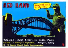 Exhibition Poster. Franck Gohier - red Hand prints