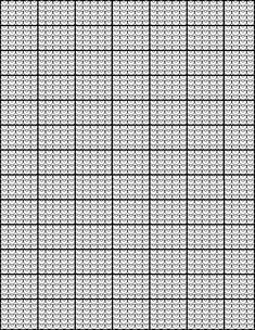 Another knitting graph paper chart that looks like knit stitches.