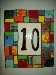 Handmade Ceramic House Number Address Tile by CustomTilesByRich, $58.00