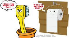 Toothbrush worst job joke. :) #dentistjokes