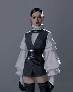 did anyone point out artwork Jedi-Outfit? Set Fashion, Fashion Art, Fashion Outfits, Fashion Design, Couture Fashion, Jedi Outfit, Character Design Inspiration, Mode Inspiration, Fantasy Inspiration