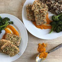 Tofu en croute de pistaches et chanvre Nutrition, Cantaloupe, Fruit, Posts, Food, Crispy Tofu, Marinated Tofu, Pistachios, Essen
