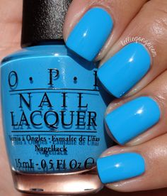 OPI — Fearlessly Alice (Alice Through the Looking Glass Brights Collection Nails Opi, Get Nails, How To Do Nails, Nail Polishes, Summer Nails, Spring Nails, Summer Nail Polish, Opi Nail Colors, Opi Blue Nail Polish