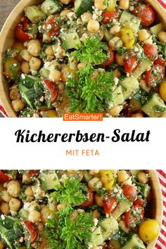 Kichererbsen-Feta-Salat Blitz Clean Eating Recipe: Chickpea Feta Salad – low-calorie – quick recipe – simple dish – the recipe is so healthy: / 10 Chickpea Feta Salad, Feta Salat, Cauliflower Salad, Potluck Recipes, Salad Recipes, Vegetarian Recipes, Healthy Recipes, Salads To Go, Plat Simple