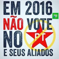 Vamos aderir à campanha #votozero ... NÃO VOTE em nenhum partido de esquerda socialista e comunista. Nem que o candidato seja seu amigo. Se não quer ser amigo do povo não serve. VOTO pra eles #pcdob #psol #PT #outros #somostodosbrasil by mariana_gidrao http://ift.tt/1U2QJzN                                                                                                                                                     Mais