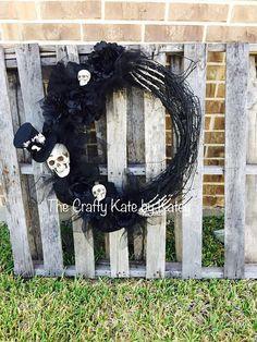 Halloween Wreath Skeleton Wreath Skeleton hands wreath