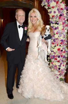 crystal harris's pink mermaid wedding dress - not a huge fan of the style but pleasantly surprised that it's not totally tacky!
