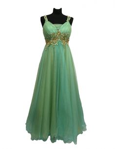 Sherri Hill two tone mint and gold  Evening Gown available at Fashion House Amman. Call 0795324199 for info