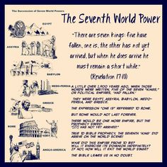 "The Seventh World Power // ""There are seven kings: five have fallen, one is, the other has not yet arrived, but when he does arrive he must remain a short while."" (Revelation 17:10) A little over 1,900 years ago, when those words were written, five of the seven ""kings,"" or political empires, 'had fallen.' They were Egypt, Assyria, Babylon, Medo-Persia, and Greece. The expression ""one is"" referred to Rome. But Rome would not last forever. There would be one more empire, but the prophecy…"
