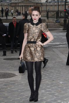 The Mortal Instruments starlet Lilly Collins goes for classic ladylike chic.
