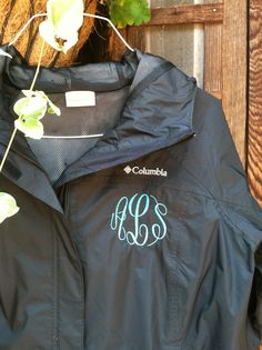 Rain jackets ...great for monograms by Cantril Signature Sewing
