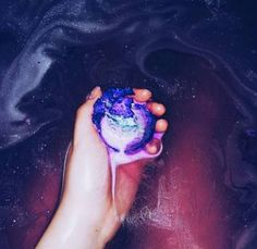 Image result for bath bombs in water galaxy