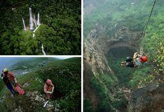 Explorando cavernas pelo mundo
