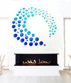 Beach Wall Art | Beach Wall Decor | Ocean Wall Art Blue Wall | Over Fireplace Art | Etsy Art | Blue Wall Hanging | Wood Wall Sculpture | Circle Art | Rosemary Pierce Modern Art Beach Wall Decor, Diy Wall Decor, Fireplace Art, 3d Wall Art, Modern Artists, Custom Wall, Modern Artwork, Blue Walls, Wall Sculptures
