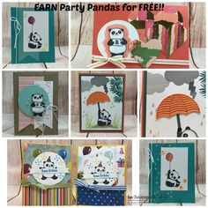 Lot's of fun with Party Pands\as, for Valentines Day cards and Birthday cards for kids, men and women! LOVE this set!! Debie Deschaine, Independent Stampin' Up! Demonstrator.