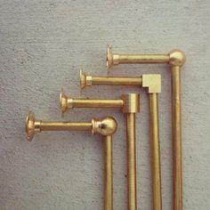 Solid Brass Towel Bar - 4 Styles Available - Pepe and Carols Bathroom Towels, Small Bathroom, Bathroom Ideas, Bathroom Organization, Bathroom Designs, Bathroom Renovations, Bathroom Storage, Master Bathrooms, Bathroom Mirrors