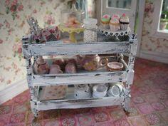 Liberty Biberty: Shabby Chic Minis - pastry trolley