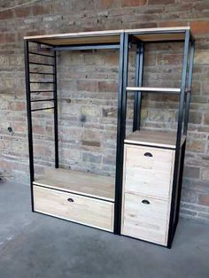 Welded Furniture, Industrial Design Furniture, Iron Furniture, Steel Furniture, Home Decor Furniture, Furniture Design, Bedroom Closet Design, Home Room Design, Closet Designs