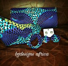 nice African print,ankara clutch with wedge and earring by bgdesignsafrica~African fa. Ghanaian Fashion, Ankara Fashion, African Men Fashion, African Dresses For Women, African Women, Mens Fashion, Ankara Styles, Chanel Boy Bag, Printing On Fabric