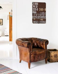 """On my """"to get list"""": Chesterfield chair. from Modern Girls & Old Fashioned Men"""