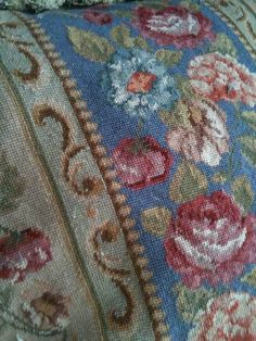 a lovely vintage needlepoint pillow