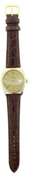 Rolex Datejust 16013 Champagne Diamond Dial 36mm Watch