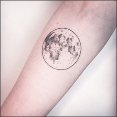 45 Hypnotic Patterns Of Moon Tattoos intended for Moon Tattoo with ... #moon #tattoo #tattooideas