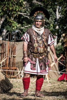 Roman re-inactor, Centurion