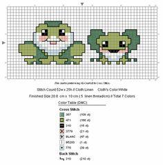 free cross stitch frogs