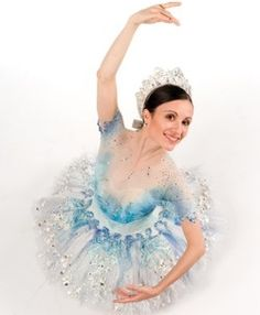 Luz San Miguel, costumed as the Snow Queen for the Milwaukee Ballet The Nutcracker.