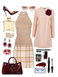 """""""Pink And Wine"""" by annabellalovesfashion ❤ liked on Polyvore featuring MARC CAIN, Rosetta Getty, Lancôme, Huda Beauty, Hermès, Kate Spade, Givenchy, Bobbi Brown Cosmetics, Christian Louboutin and Hogan"""