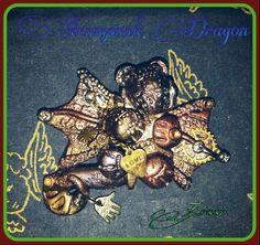Steampunk Drache, Dragon, Fimo, Polymer Clay