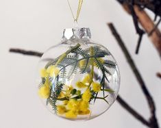 Set of 4 Australian Native Flowers Christmas Baubles | Etsy
