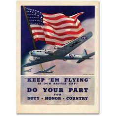 Trademark Fine Art em Flying Canvas Art by Keep, 18 inch x 24 inch, Multicolor
