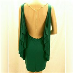 Bcbg - Backless Green Dress