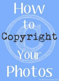 Watermarks are good way to add a copyright visually but it isn't the best way. See how to copyright photos using metadata.