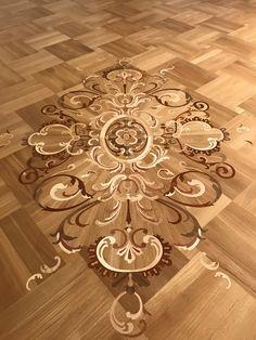 Художественная розетка Wood Look Tile Floor, Wood Floor Design, Wood Floor Pattern, Floor Art, Floor Patterns, Unique Flooring, Wooden Flooring, Parquetry Floor, Stenciled Floor