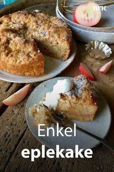 Enkel eplekake med smuldretopp fra Lise Finckenhagen. Recipe Boards, Bread Baking, Cheesecakes, Cake Cookies, Cake Recipes, French Toast, Deserts, Good Food, Goodies
