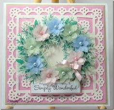 I like the wreath. She used vellum and MS punches - http://marilynscardsandmore.blogspot.ca/2012/05/birthday-wishes.html