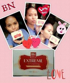 """BN Extreme soap  •It is specially formulated to effectively whiten the skin combined with a very good anti-oxidant which is glutathione.  •This soap bar helps diminish blemishes and renew damaged skin tissues for a whiter and younger-looking skin. • Awarded with a seal of National Product Quality Excellence  •Award and bagged the """"BEST INNOVATIVE WHITENING PRODUCTS"""" 2013-2014* Whitening Soap, Excellence Award, Soap Bar, Uneven Skin Tone, Younger Looking Skin, Skin Problems, Toy Chest, Seal, Products"""
