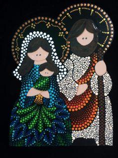Navidad Fall Canvas Painting, Dot Art Painting, Mandala Painting, Stone Painting, Christmas Mandala, Christmas Art, Christmas Projects, Christmas Ornaments, Paw Print Art