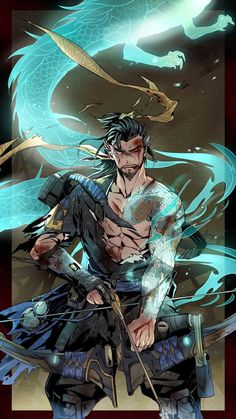 Hanzo, Overwatch, Overwatch Hanzo Source by sashatwining Hanzo. Overwatch Hanzo, Overwatch Comic, Overwatch Fan Art, Overwatch Drawings, The Elder Scrolls, Game Character, Character Concept, Hanzo Dragon, Fotos Do Anime Naruto