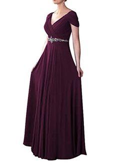 WeiYin Women's Cap Sleeve V-neck Ruched Empire Line Evening Dress Mother of the Bride Dresses Plum US 8 WeiYin http://www.amazon.com/dp/B014IQOSPE/ref=cm_sw_r_pi_dp_cSjdwb0ADYFKC